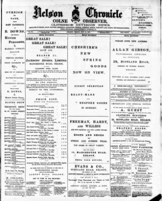 cover page of Nelson Chronicle, Colne Observer and Clitheroe Division News published on May 14, 1897