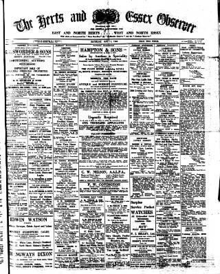 cover page of Herts and Essex Observer published on May 11, 1946