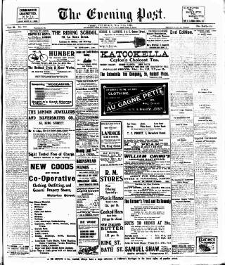 cover page of Jersey Evening Post published on May 11, 1911