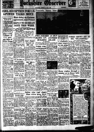 cover page of Bradford Observer published on May 5, 1952