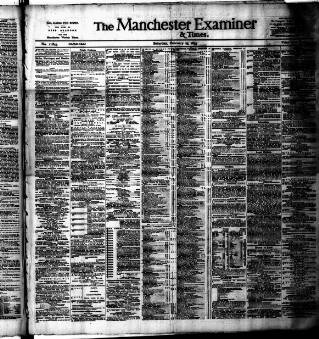 cover page of Manchester Daily Examiner & Times published on February 25, 1893