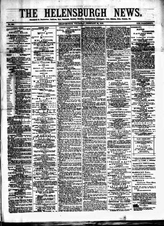 cover page of Helensburgh News published on February 25, 1886