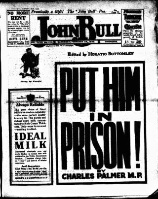 cover page of John Bull published on February 28, 1920