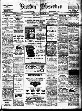 cover page of Burton Observer and Chronicle published on February 25, 1915