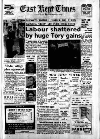 cover page of East Kent Times and Mail published on May 9, 1969
