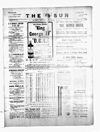 cover page of Sun (Antigua) published on May 11, 1912