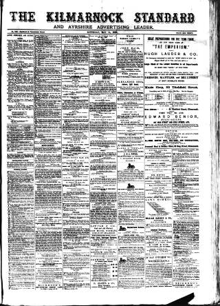 cover page of Kilmarnock Standard published on May 14, 1892