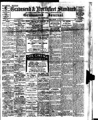 cover page of Gravesend & Northfleet Standard published on May 14, 1912