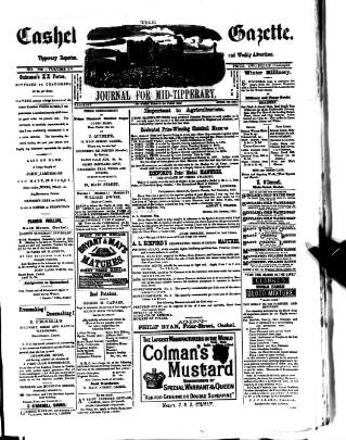 cover page of Cashel Gazette and Weekly Advertiser published on April 23, 1881