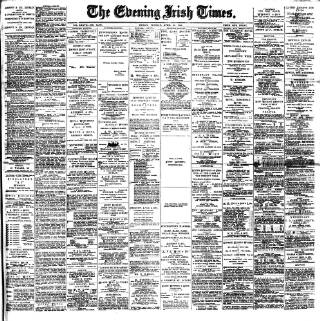cover page of Evening Irish Times published on April 23, 1895