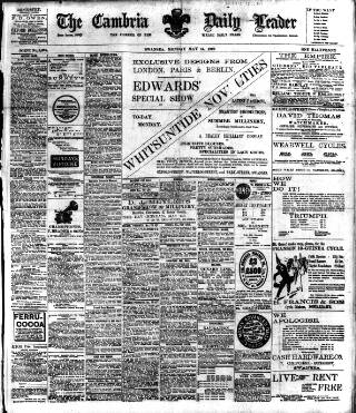 cover page of Cambria Daily Leader published on May 14, 1900